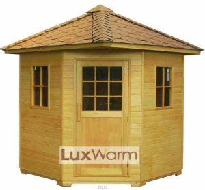Piscina com Sauna de Infravermelhos distante quarto com aquecedor de cerâmica para 4 a 5 Pessoas