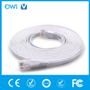 Cable de Ethernet de piso Patch Cord CAT6/7 U/UTP de 4 pares trenzados Unshieleded