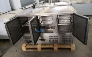De commerciële Teller van de Ijskast voor Saladette GN 1/1 (S903 de BOVENKANT van het GRANIET)