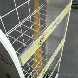 4 층 금속 철사 티슈 페이퍼 선반 상점은 진열대를 공급한다