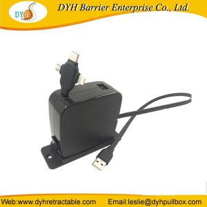 China proveedor fabrica parpadeando carrete retráctil cargador micro USB Cable USB para teléfono móvil