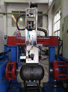 MIGのLPGシリンダーのための円周のシーム溶接機械