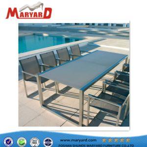 Современный ресторан из нержавеющей стали и обеденный стол из нержавеющей стали для установки вне помещений, мебель