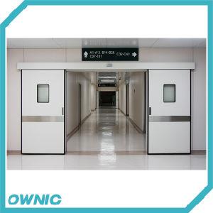 La doble puerta deslizante hermética con Kick la placa de la sala de operación del hospital