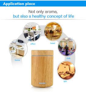 Voyant de changement de couleur de 120ml Huile Essentielle de feux de bois humidificateur à ultrasons