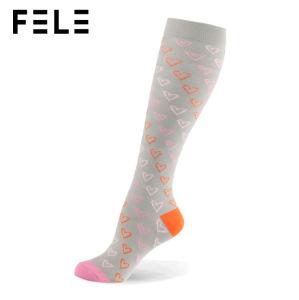 Calzini respirabili di compressione del ginocchio materiale di alta qualità alti