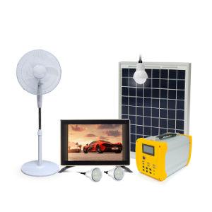 Nouveau système d'accueil d'énergie solaire portable avec TV et le ventilateur
