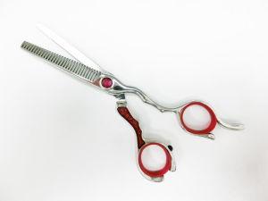 440c japonés de acero inoxidable de 5,5 pulgadas de adelgazamiento del cabello tijeras (PLF-TNRC55).
