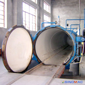 2500x6000мм горизонтальной промышленного пара косвенного нагрева резиновые Vulcanizer