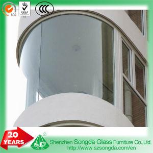 Vidrio templado de 8-15 mm dobladas Radian forma para la pared del edificio de construcción