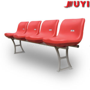 セリウムの証明書屋外OEMのHDPEのプラスチックシートの粉のコーティングの鋼鉄足椅子15年の保証の黄色の運動場の競技場の