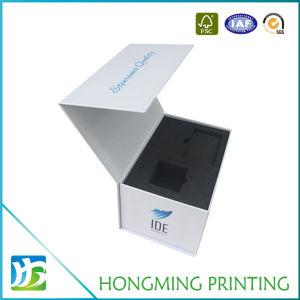 Logotipo personalizado impreso en papel de embalajes de cartón rígido plegable Magnetic cajas de regalo con relleno de espuma