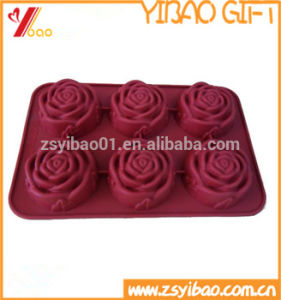 型を飾る熱い販売の花の形のシリコーンのケーキ