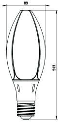 Lâmpada do milho do diodo emissor de luz do suporte 230V 54W da lâmpada de E27 B22