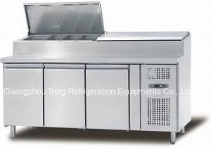 高品質セリウムが付いている商業サンドイッチ表示冷却装置