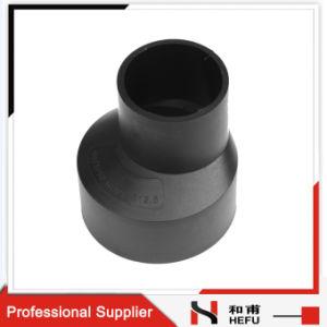 Schwarzes HDPE materielles Plastikwasser-Rohrfitting-Exzenter-Reduzierstück