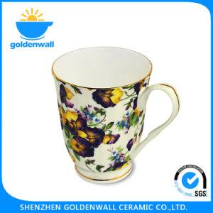 Flores clásico 300ml refinada porcelana china taza de café