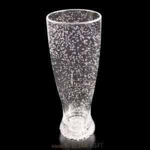 O plástico inquebrável acende led piscando Tall Beer Cup com bolhas de ar injectado
