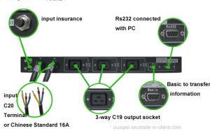 Msts-30A Schakelaar van de Overdracht van 110VAC de Industriële Automatische voor de Dubbele Levering van de Macht