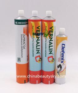 Envases cosméticos cuidados del cuerpo de aluminio tubular contenedor plegable vacía