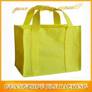 Нетканого материала сумка для покупок подарков шелк трафаретная печать (BLF-NW016)