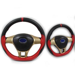 De hand naait Dekking Van uitstekende kwaliteit van het Stuurwiel van de Auto van het Leer Microfiber de verouderen-Bestand met Naald en Draad 38cm