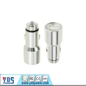 Duas portas USB de 5V de segurança metálicas, 3.1A duas portas USB Universal Carregador para Automóvel 2.1A inoxidável Martelo de segurança