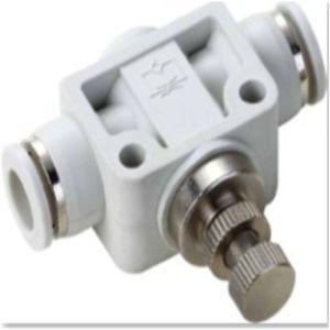 Unión neumática Controlador de velocidad recto Accesorios de plástico
