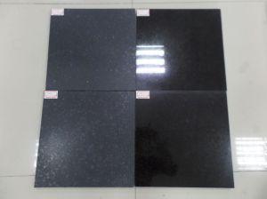 Дешевые китайские Flamed и полированным G684 черного гранита на полу плитка