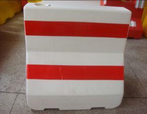 Rojo y Blanco de la construcción de la barrera de carretera