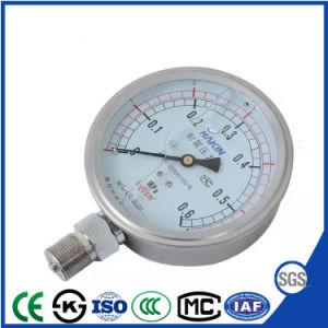 De aço inoxidável resistente à vibração inferior do Medidor de Pressão com Alta Qualidade