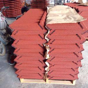 Dach-Fliese-Asphalt-Schindel-Blatt-Stein-überzogene Stahldach-Fliese