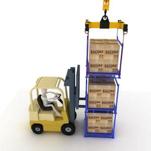 Heavy Duty Nestainer réglable Mobile Rack pour le stockage industriel