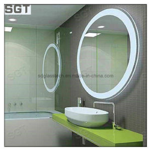 Ba o redondo espejo con marco de acero inoxidable ba o - Espejo redondo bano ...