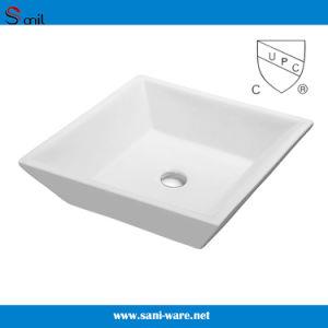 衛生製品の工場Upc (SN105-014)の陶磁器の芸術の洗面器