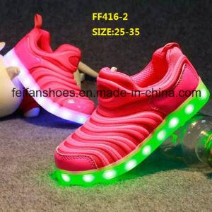 Los niños más reciente el LED parpadea zapatos calzado deportivo (FF416-2)