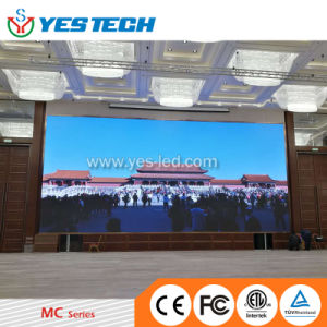 Manutenção de frente para o Centro de Congressos de painéis de LED