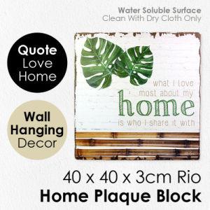 Bloque de la placa de inicio de la Junta signo del amor la pared cuelgan de las artes la decoración del hogar