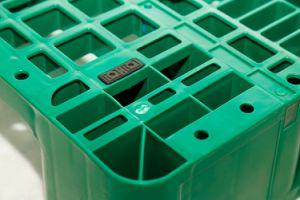 Pavimento Eco-Friendly Serviço Pesado tipo Euro palete de plástico de tamanho padrão para venda