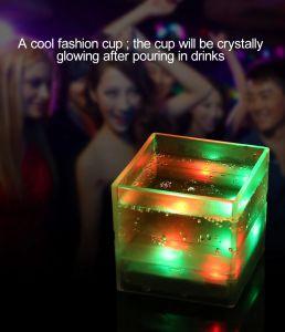 Venda Quente Masu-Cup parte colorida utilizada a luz de LED piscando copo de cerveja para eventos