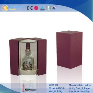 Display (5745R12)のためのハンドメイドのLeather Decorative Wine Bottle Holder