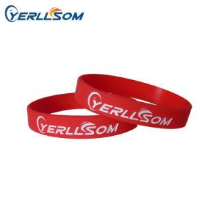 Yerllsom Debossed personalizada y la tinta, llenas de silicona caucho pulseras PARA EVENTOS Y20122607