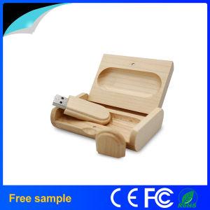 包装ボックスが付いている木の長方形8GB USBの棒