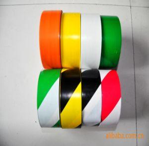 De geel-zwarte Band van de Vloer van pvc met Sterke Kleefstof voor het Merken (48mm*20m)