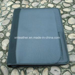 Кожаный портфель молнии бизнес-данные органайзера файлов в папке