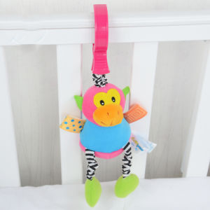 Giocattolo stridulo del passeggiatore della peluche del giocattolo del gancio della base di bambino della peluche