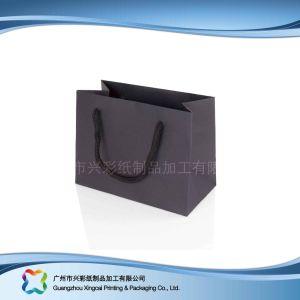 Gedruckter rückseitiger Papierverpackenträger-Beutel für Einkaufen-Geschenk-Kleidung (XC-bgg-032)
