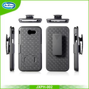 Samsung J3 2017のコンボのホルスターベルトクリップ携帯電話の箱のゴム製頑丈な携帯電話の箱のため
