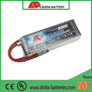 2600mAh 25c 11.1V R/Cのモデルリチウムポリマー電池