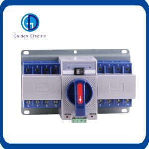 Disjoncteur du circuit électrique de type 2p auto commutateur de transfert de 1A à 63A
